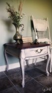 Shabby Farmhouse Chic Side Table
