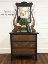 Antique Chiffonier Dresser w/ Swivel Mirror