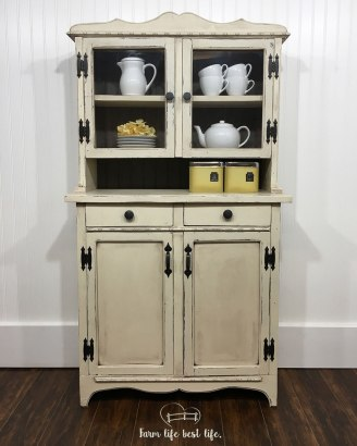 May 2018 ~ Petite & Time-Worn Farmhouse Hutch